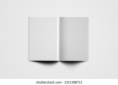 Blank Cover Of Magazine, Book, Booklet, Brochure  Isolated On White Background. Mock Up Template Ready For Your Design. 3D rendering