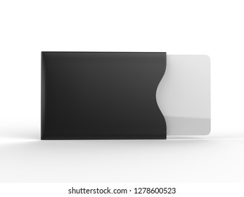 Blank Credit Card Sleeve Protector. 3d render illustration.