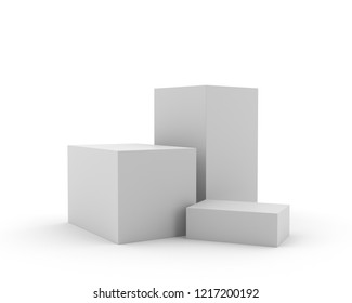 Blank Cube Stand For Exhibition. 3D render