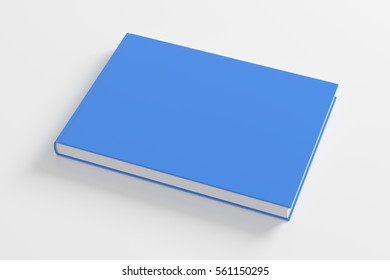 Blank cyan book cover on white background. Isolated with clipping path. 3d render