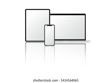 Blank digital device screen mockups