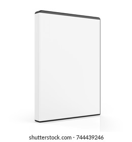 Blank DVD Case Isolated. 3D rendering