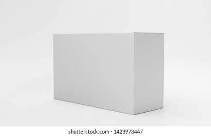 Blank Empty Box Product Template. Single Horizontal Box Ready For Branding. 3D render