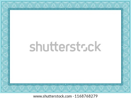blank empty certificate diploma template design stock illustration