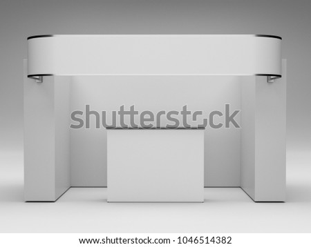 Exhibition Booth Blank : Exhibition booth d rendering stock photo more pictures of blank