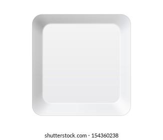 blank empty keyboard key isolated on white
