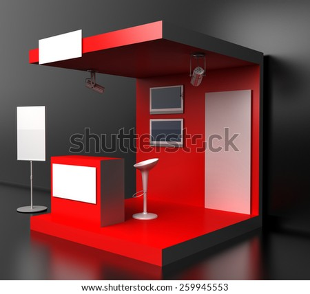 Exhibition D Model Free : Royalty free stock illustration of blank exhibition kiosk d