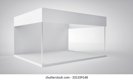 Blank exhibition stand / Trade show booth isolated