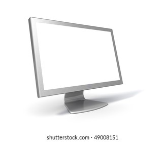 Blank Flat Screen LCD monitor (with clipping Path around screen and object)