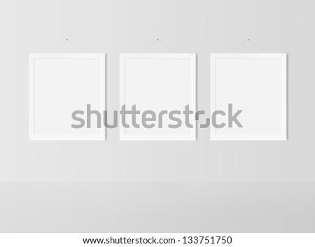 dcd50316474 ... Stock Illustration 133751750 - Shutterstock. blank frame on a white wall