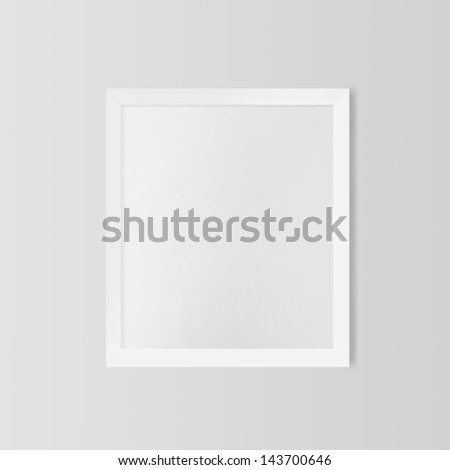 460754ee844 Royalty Free Stock Illustration of Blank Frame On White Wall Stock ...
