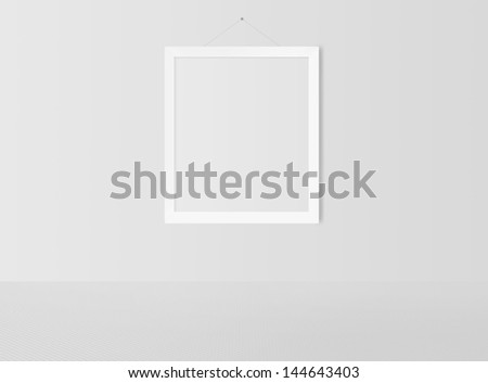 b883b8668ae ... Stock Illustration 144643403 - Shutterstock. blank frame on a white wall