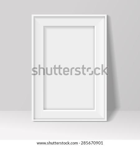 6bd1d1541d1 Blank Frame On White Wall Background Stock Illustration 285670901 ...