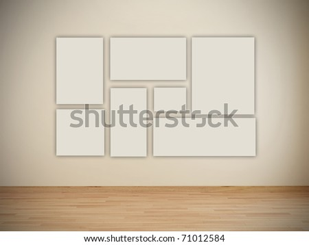 Blank Frames Art Gallery Stock Illustration 71012584 - Shutterstock