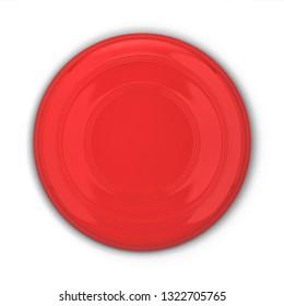 Blank frisbee mockup. 3d illustration isolated on white background