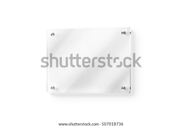 Blank Glass Name Plate Wallmounted Mockup Stock Illustration 507018736