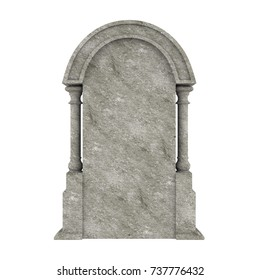 Blank Gravestone Isolated. 3D rendering