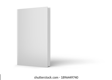 Blank gray hardcover book isolated on white background. 3D rendering illustration mock-up.