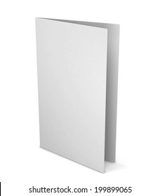 Blank greeting card. 3d illustration isolated on white background