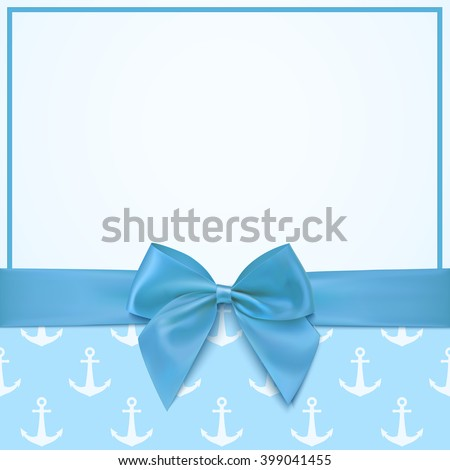 Blank Greeting Card Template Baby Boy Stock Illustration 399041455