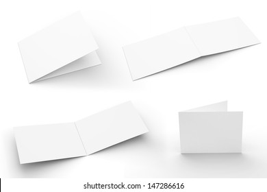 Blank greeting card template images stock photos vectors blank greeting cards set isolated on white with soft shadows 4 views m4hsunfo