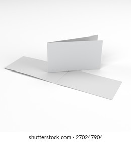 blank greeting cards with two wings isolated on white
