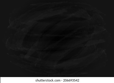 Blank grungy background of a black chalkboard, illustration.