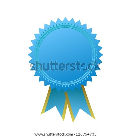 blank guarantee element sign certificate ribbons stock illustration