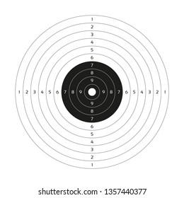 Shooting, Target, Range, Gun, Paper, Background, Bullet, White