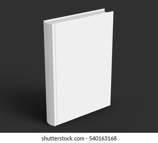 blank hard cover book template blank stock illustration 540163195