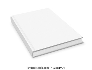 Blank hardcover book isolated on white background