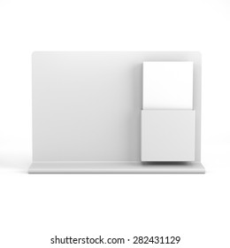 blank holder with dl size brochures and board