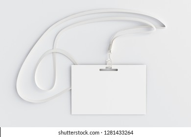 Blank identity id card on white background. 3d illustration