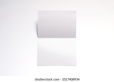 Blank Invitation, greeting cards isolated on white to  showcase your event presentation. 3d illustration.