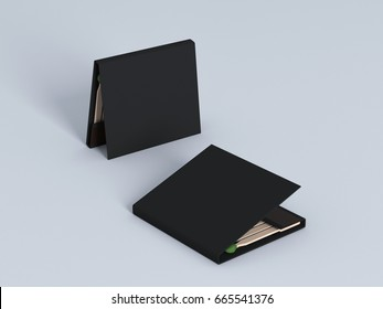Blank matches  book mock up 3d rendering