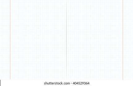 Blank math exercise book paper sheet, 2d raster illustration background, mathematical grid