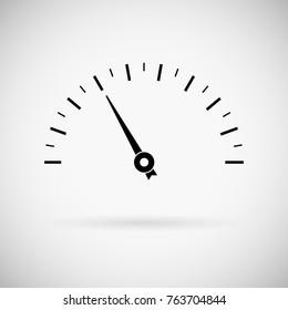 Blank measuring semi-circle scale. For industrial gauges. Illustration. Raster version
