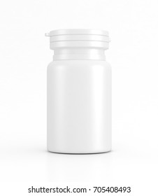 Blank medicine bottle mock-up isolated 3d illustration, medical concept.