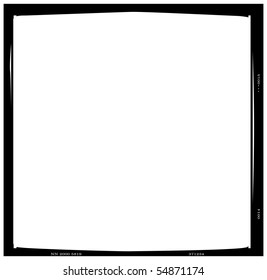 Blank medium format negative picture frame,with free copy space, isolated on white background,