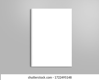 Blank mock up cover magazine isolated on gray
