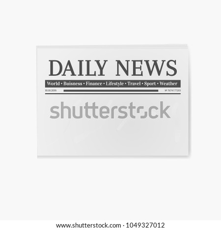 blank newspaper daily news page template stock illustration