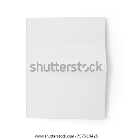 Blank Newspaper Template 3d Illustration Isolated On White Background