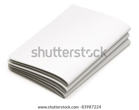 Blank Newspapers On White Background Stock Illustration 83987224