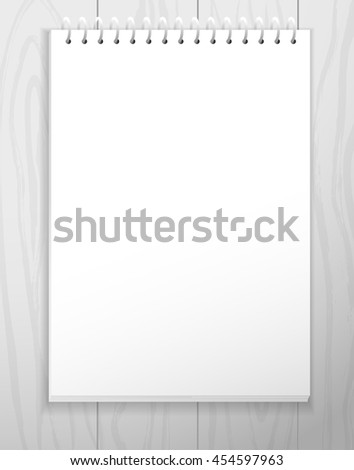 Blank Notebook Blank Paper Sheet Laying Stock Illustration 454597963 ...