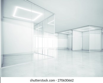 Blank office space. 3D rendering