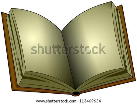 blank old book template cartoon illustration stock illustration