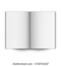 blank open book cover mockup 3D illustration on white background.