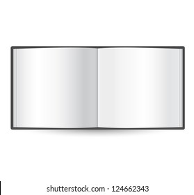 blank open book template - isolated on white
