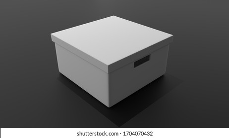 blank packaging boxes - open and closed mockup, isolated on white background. maya 3d
