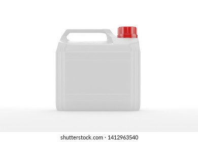 blank packaging white plastic gallon isolated on white background with clipping path. 3D rendering
